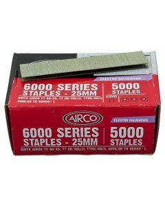 Staples – 25mm x 5.5mm Narrow Crown Electro-Galvanised (Pack 5000)
