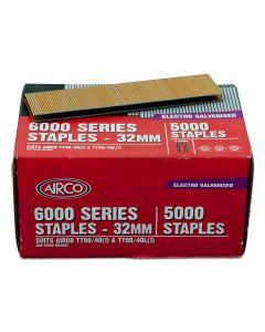 Staples – 32mm x 5.5mm Narrow Crown Electro-Galvanised (Pack 5000)