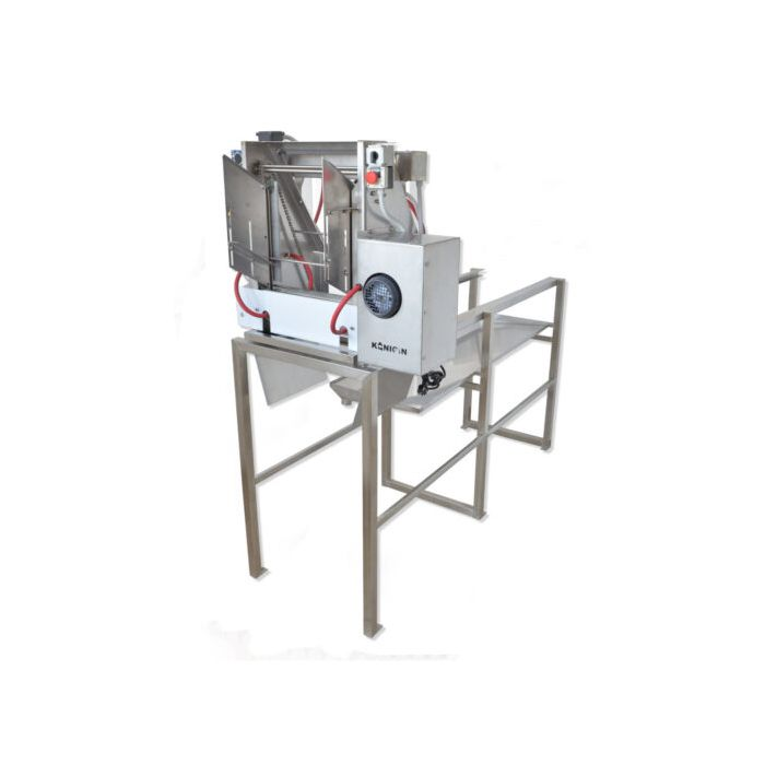 Königin Automatic Uncapping machine with heated oscillating knives + 1.5m long tank with frame slide