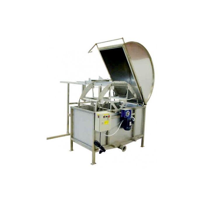 Königin Horizontal honey extractor, 60 frames, frame height: 19-26cm, with frame holder