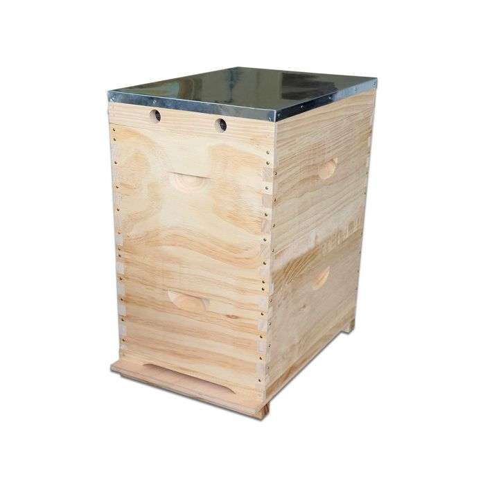 8F F/Depth Beehive kit complete with frames, plastic foundation