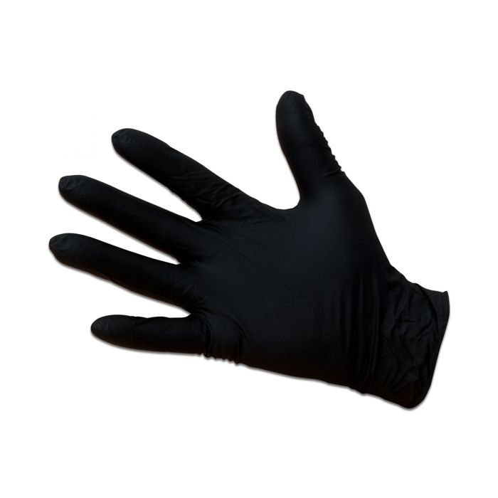 Gloves – Nitrile Black 180mµ (Pack 100)