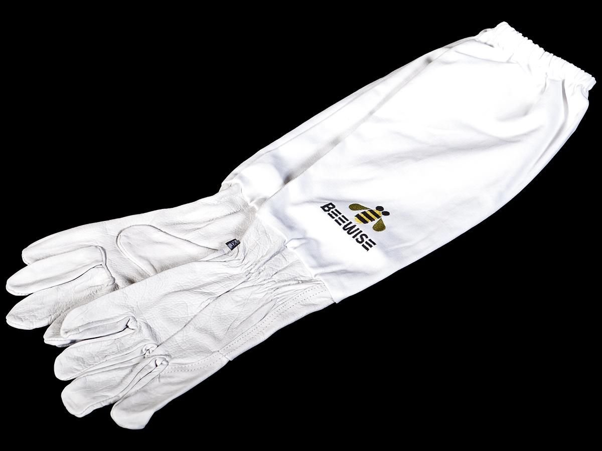 3XS Size Beekeepers White Leather Gloves